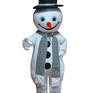 Christmas Frosty the Snowman Mascot Adult Snowman Costume
