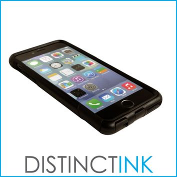 "DistinctInk™ Custom Black OtterBox Commuter Series Case for Apple iPhone 6 Plus / 6S Plus (5.5"" Screen) - Marijuana Leaf Photo"