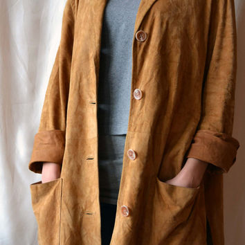 Oversized Suede Leather Jacket Light Brown Jacket Vintage Jackets Brown Womens Suede Jackets