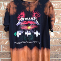 Metallica // cut // raw edge//concert t shirt // heavy metal// punk //