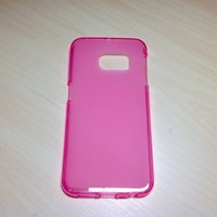For Samsung Galaxy S6 Edge Soft TPU translucent Color Case Protective Silicone Back Case Cover - Pink