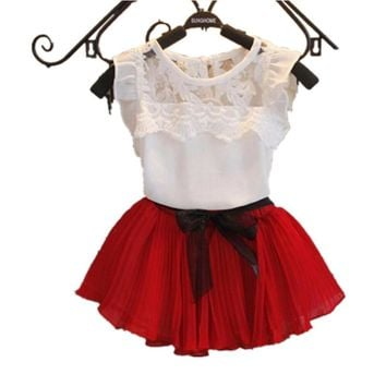 Baby Girl Clothing 2017 Girl Dress Children clothes lace Princess Baby Toddler Kids Clothes Christmas costume 2 4 6 8