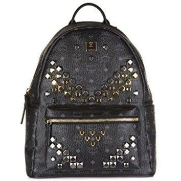 MCM Unisex Stark M Stud Medium Backpack