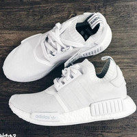 "Women ""Adidas"" NMD Boost Casual nmd Sports Shoes Knit White"