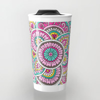 Colorful Sunrise Travel Mug by Sarah Oelerich