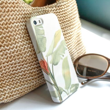 iPhone 5 Case Tropical iPhone 5S Case, iPhone 5C Case, Leaves iPhone 4 Case, iPhone 5S Banana Leaves iPhone 4S Case Tropical iPhone Case