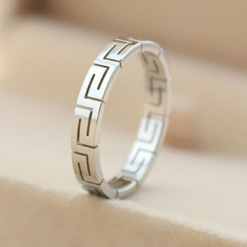 Casual Silver Ring Love Rings Gift-130