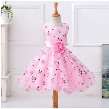 Summer Girl Clothes Kids Dresses For Girls Lace Flower Dress Baby Girl For Party And Wedding Party Clothes