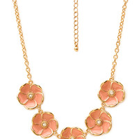 FOREVER 21 Garden Floral Charm Necklace