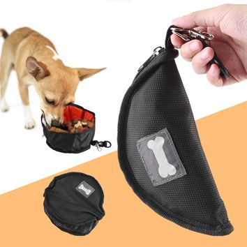 Cloth Collapsible Travel Pet Cat Food Bowl Dogs Food Water Bowl Outdoor Portable Folding Puppy Feeder Pet Supplies
