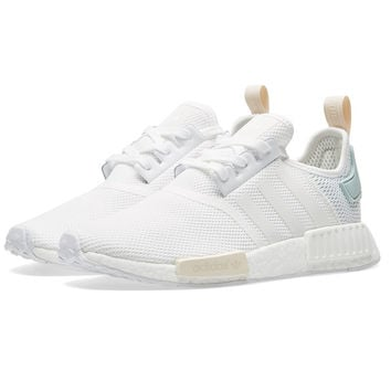 """Adidas"" NMD Trending Fashion Casual Sports Shoes white Mint green logo"