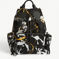 BURBERRY Splash print medium backpack