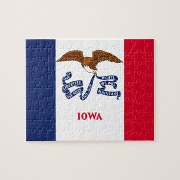 Puzzle with Flag of Iowa State