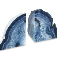 Agate Bookends, Set of 2