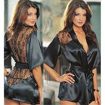 Women Luxury Robe Women's Nightwear Sexy Sleepwear for Girl Lingerie Sleepshirts Sexy Nightgowns Sleeping Blouse