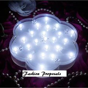 set of 10 LED Light/Vase For Floral Wedding Center pieces. Battery Operated. with 23 bright LED's