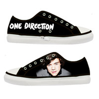 One Direction Harry Styles canvas shoes - Size : US 5 6 7 8 9 EUR 36 37 38 39 40