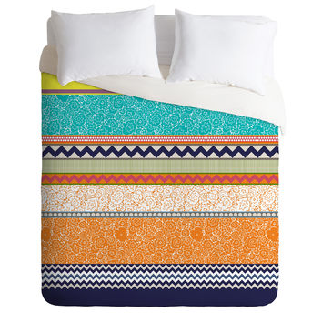 Sharon Turner Seaview Beauty Stripe Duvet Cover