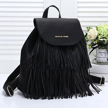 Michael Kors MK Women Fashion Tassels Tote Backpack Daypack Bookbag