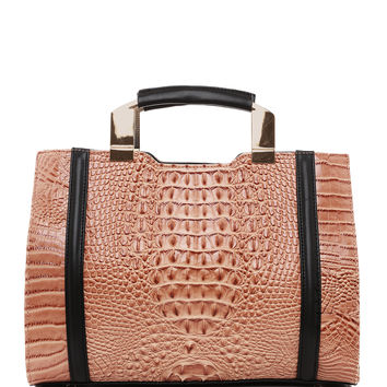 Croc Textured Tote Bag