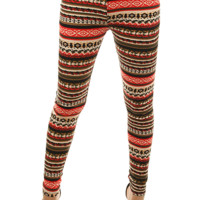 Ethnic Print Leggings | HGB42