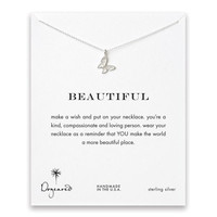 "Dogeared Beautiful Butterfly Sterling Silver 16"" Reminder Boxed Necklace"