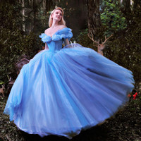 Cinderella Ball Gown Girl's Formal Occasion Evening Party Dress Size 2 4 6 8 10