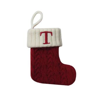 St. Nicholas Square 8-in. Mini Monogram Stocking