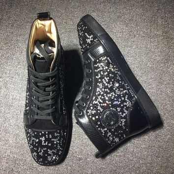 Christian Louboutin CL Rythinestone Style #1920 Sneakers Fashion Shoes Best Deal Online