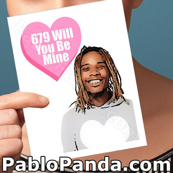 Valentines Day Card | Fetty Wap | Boyfriend Gift Anniversary Card Trap Queen Husband Gift I Love You Card 679 Personalized Funny Valentine