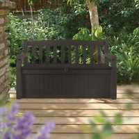 Outdoor Patio Garden Bench Storage Eden 70 Gallon All Weather Deck Box Keter