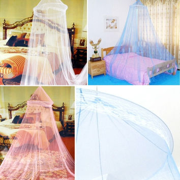 1pcs Elegant Round Lace Princess Bed Canopy Netting Curtain Dome Mosquito Net = 1714516164