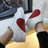 """Adidas"" Unisex Casual Fashion Love Heart Shell Head Plate Shoes Couple Sneakers Small White Shoes"