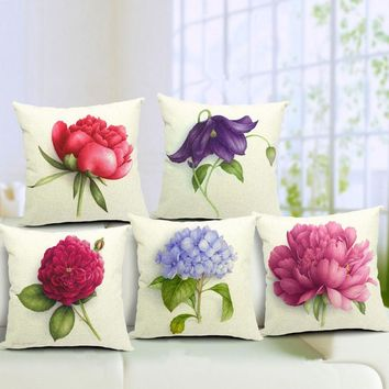 Euro Style Home Decor Cushion Cover Throw Pillows Sofa Char Seat Vigtage Flowers Cushion Cover Decorative 40*40 CM Pillow Cover