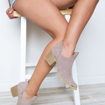 Sweet Talker Booties - Taupe