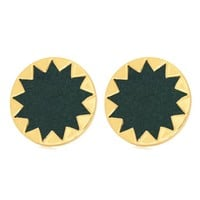 House of Harlow 1960 Jewelry Sunburst Button Earrings in Juniper