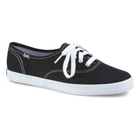 Keds Champion Original Lace Up Sneakers {Black} Women's | WF34100