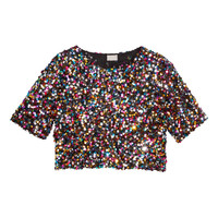 Short sequined top - from H&M