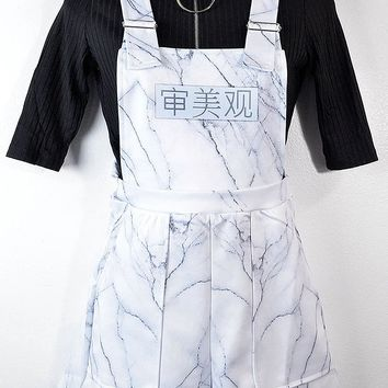 Marble Aesthetic Print Overalls
