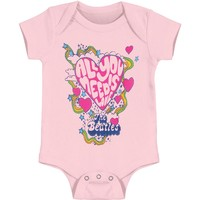 Beatles Boys' All You Need Is Love Bodysuit Pink Rockabilia