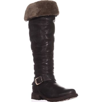 FRYE Valerie Sherling Over The Knee Riding Boots, Black, 6.5 US