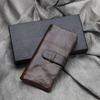 retro handmade genuine leather wallet card hold purse 01