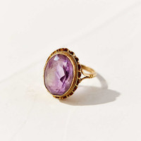 Diament Jewelry Vintage 9K Gold Oval Amethyst Ring - Urban Outfitters