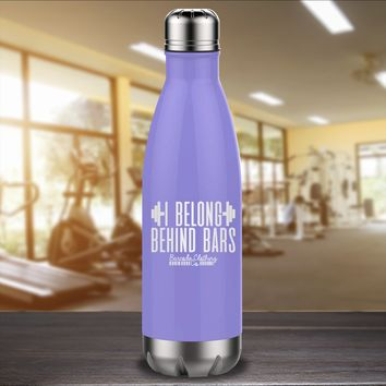 I Belong Behind Bars Laser Etched Water Bottle