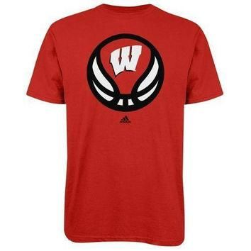Wisconsin Badgers Basketball NWT t-shirt Adidas Bucky Big 10 new with tags UW