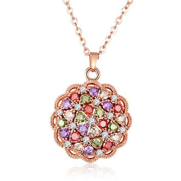 Jewelry Shiny New Arrival Stylish Gift Multi-color Crystal Necklace [11597564879]