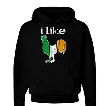I Like Irish Rooster Silhouette Dark Hoodie Sweatshirt by TooLoud