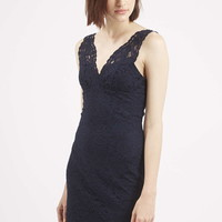 TALL Lace Bodycon V-Neck Dress - Topshop