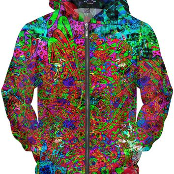 Neon Alien Blacklight Jungle Hoodie