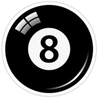 Black pool/billiard ball number 8 by Mhea